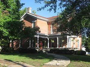 Sparta Historic District (Sparta, Illinois) - The Rosborough House, home of the district's developer