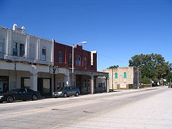 View of Route 66 in downtown Afton, Oklahoma