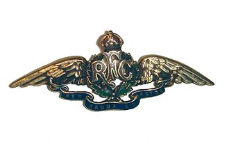 Howard R. Davies - Royal Flying Corps cap badge