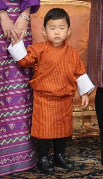 Heir apparent - Image: Royal Prince of Bhutan (cropped)