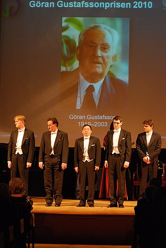 Göran Gustafsson Prize - Ceremony with the 2010 prize winners.