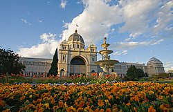 The Royal Exhibition Building, Melbourne. Site of the first flying of the Australian flag.