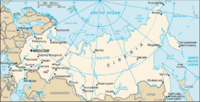 Location of Russia on world map