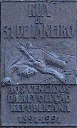 Rua 31 Janeiro (placa)