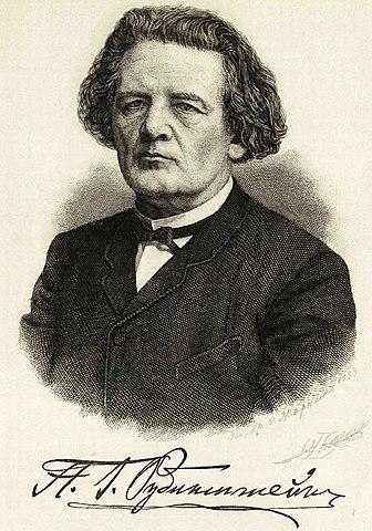 А.Г.Рубинштейн и его подпись (гравюра, 1889)