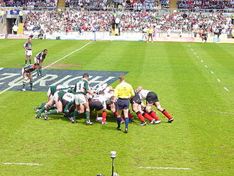 Team - A rugby union scrum