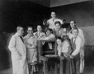 August von Brandis - August von Brandis with students in Aachen