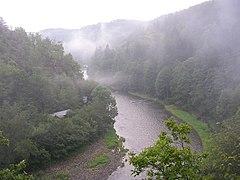 Řeka Sázava u Pikovic