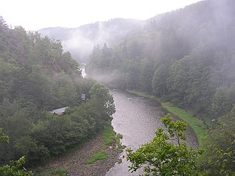 Central Bohemian Region - Image: Sázava River (CZE) at Kliment's View