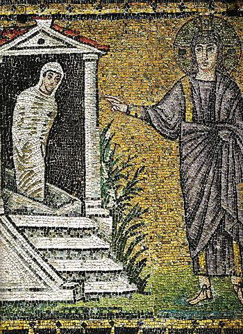 Mosaic in Basilica of Sant'Apollinare Nuovo. I...