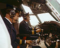SAS DC-8-33. Dan Viking. Interior of aircraft. Flight deck, cockpit.jpg