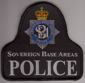 Sovereign Base Areas Police - SBA Police patch with crest