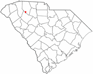 Woodruff, South Carolina - Image: SC Map doton Woodruff