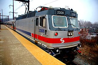 SEPTA Regional Rail - SEPTA ALP-44 No. 2308 at Fern Rock in 2008