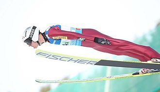 Piotr Żyła - Piotr Żyła's longest jump in career (new record of Poland) in Vikersund.