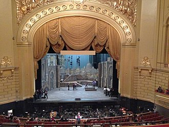 Stage (theatre) - The stage of the War Memorial Opera House in San Francisco.