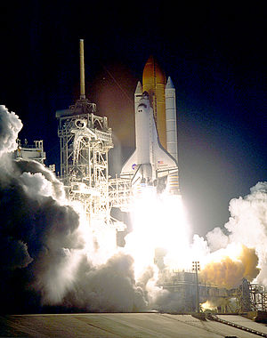 STS-88 - STS-88 launches from Kennedy Space Center, 4 December 1998.