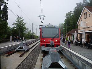 Uetliberg railway station - Image: SZU Be 510 Uetliberg 122