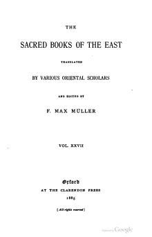 Sacred Books of the East - Volume 27.djvu