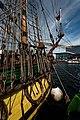 Sail Amsterdam - De Ruyterkade - View East on Frigate Shtandart 1703 - Replica 1999 the first ship of Czar Peter I's Baltic Fleet I.jpg