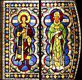 Saint Crescentius and Sabinus - Duccio's rose window - Museo dell'Opera del Duomo - Siena 2016.jpg