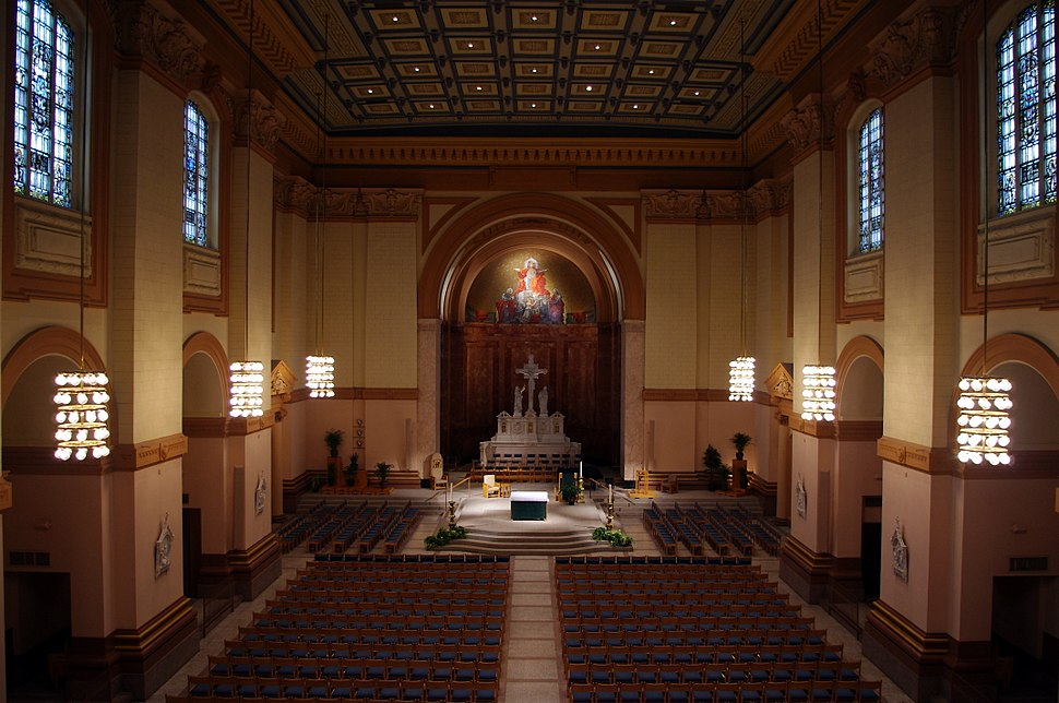 Saints Peter %26 Paul Cathedral (Indianapolis, Indiana), interior, nave view from the organ loft