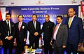 Samdech Akka Moha Sena Padei Techo Hun Sen and the Minister of State for Human Resource Development and Water Resources, River Development and Ganga Rejuvenation, Dr. Satya Pal Singh at the India- Cambodia Business Forum.jpg