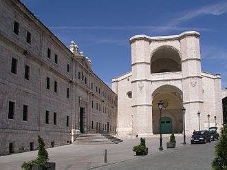 San Benito el Real, Valladolid - Current facade of the Church of San Benito el Real.