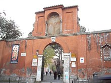The entrance to the church and catacomb of San Pancrazio