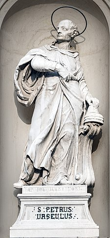San Rocco (Venice) - Statue of Saint Peter Orseolo.jpg