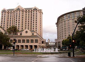 Fairmont San Jose - The Fairmont San Jose tower and annex