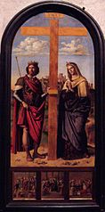 Saints Helena and Constantine at the sides of the Cross
