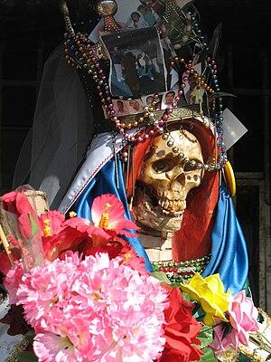 Santa Muerte - Close-up of a Santa Muerte south of Nuevo Laredo, Tamaulipas