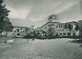 Santa Barbara, California - The new Santa Barbara County Courthouse was dedicated on August 14, 1929.