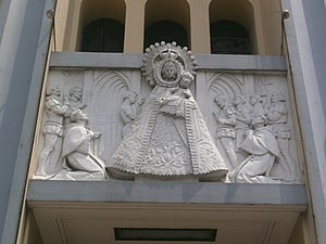 Santo Domingo Church - High-relief frieze at the facade depicting the story of the La Naval.