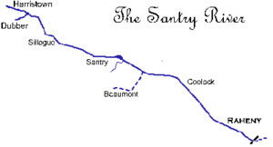 Santry River - Sketch of the Santry River