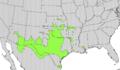 Sapindus drummondii range map.png