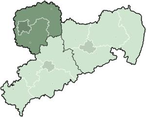 Leipzig (region) - Image: Saxony Direktionsbezirk Leipzig