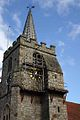 Scaffolding For Clock Repair On Church Tower. Chobham Surrey UK.jpg