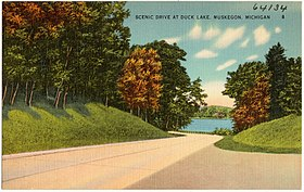 Scenic drive at Duck Lake, Muskegon, Michigan (64134).jpg