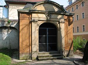 Jacobsfriedhof - Baroque pavilion over the Kassengewölbe mausoleum