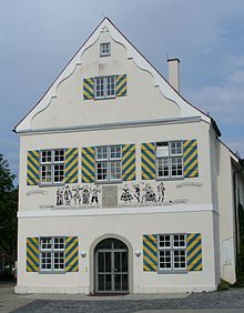 Former Komödienhaus in der Schlachtmetzig in Biberach an der Riss where in 1762, The Tempest (Shakespeare), translated by Christoph Martin Wieland was performed for the first time in Germany. (Source: Wikimedia)