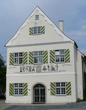 Biberach an der Riss - Former Komödienhaus in der Schlachtmetzig where in 1762 The Tempest (Shakespeare), translated by Christoph Martin Wieland was performed for the first time.