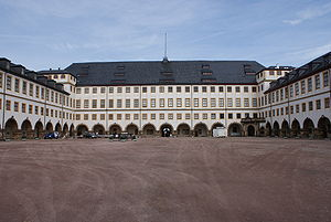 Friedenstein Palace - View from the courtyard towards the north wing