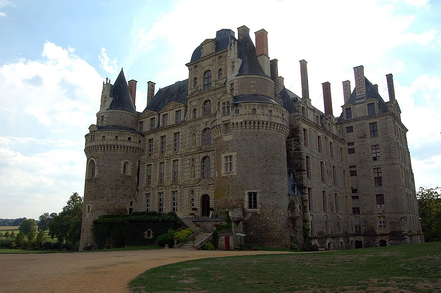 Château de Brissac, north-eastern aspect