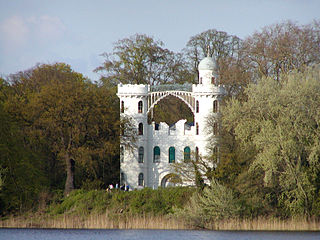 Pfaueninsel island (landscape garden and nature reserve) in the River Havel in Berlin, Germany