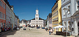 Schneeberg marketplace with townhall (aka)