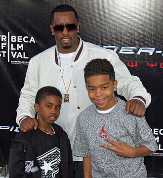 Sean Combs - Combs with his sons Christian and Justin at the Spider-Man 3 premiere (2007)