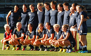 Seattle Reign FC - Seattle Reign FC pose for a photo before a match against the Chicago Red Stars on July 25, 2013.