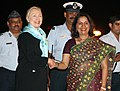 Secretary Clinton Is Greeted By Indian Foreign Secretary Nirupama Rao.jpg